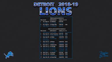 detroit lions wallpaper schedule
