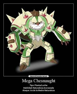 information about chesnaught mega evolution