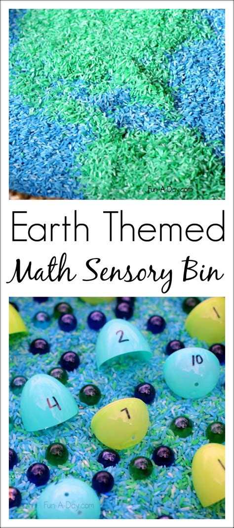 earth day math sensory bin that s and easy to set up 337 | Earth themed math sensory bin great for teaching kindergarten and preschool math skills in a hands on way