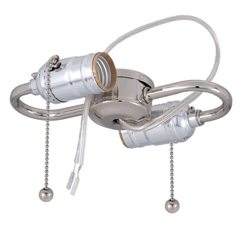 light bulb pull chain nickel 2 light s type cluster body with pull chain sockets