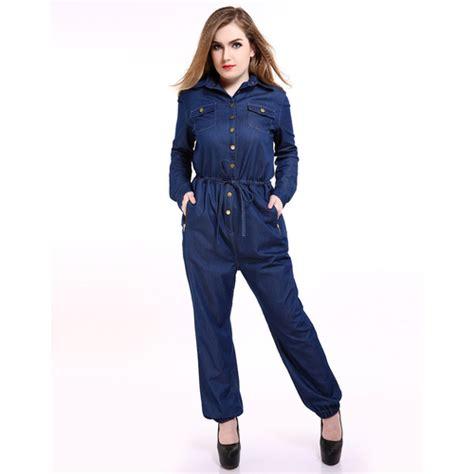 plus size denim jumpsuits 39 s length plus size denim jumpsuits pocket