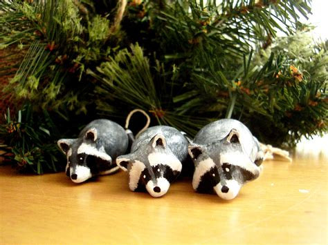 christmas ornaments raccoon christmas ornaments by possumtree