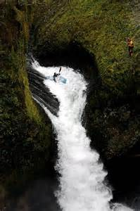 Whitewater Kayaking Waterfall