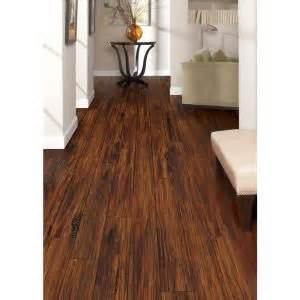 trafficmaster alameda hickory 7 mm thick x 7 3 4 in wide x 50 5 8 in length laminate flooring