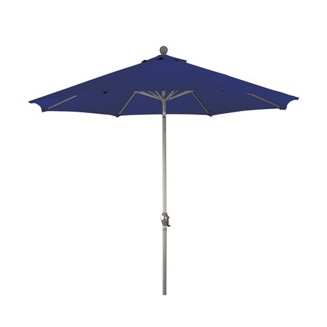 shop navy blue market patio umbrella common 9