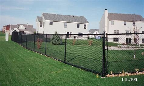 Black Vinyl Coated Chain Link Fences