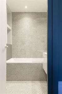 renovation salle de bains utilisant carreaux ciment emery With carreaux ciment emery