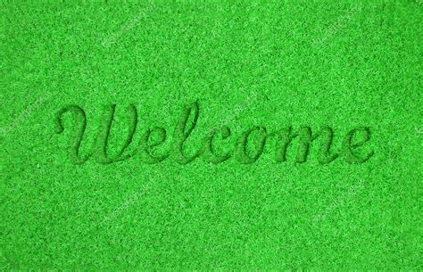 Green Welcome Mat by Green Welcome Mat Stock Photo 169 Ozaiachinn 81864120