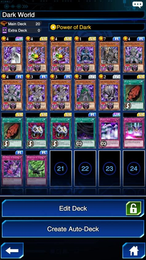 necrofear deck build yu gi oh duel links world deck explained player one