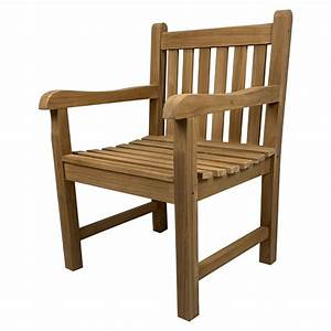 Outdoor, Furniture, Solid, Teak, Wood, Arm, Chair, Reduced