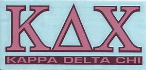 kappa delta chi greek letters and name decal With kappa delta chi greek letters