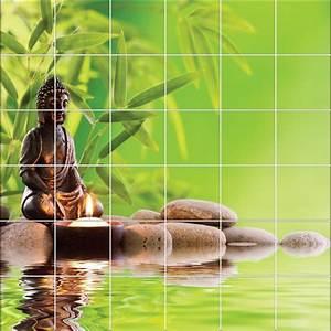 Stickers Salle De Bain Zen : stickers carrelage mural bouddha zen stickers autocollants ~ Dode.kayakingforconservation.com Idées de Décoration