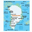 Greenland Landforms and Land Statistics