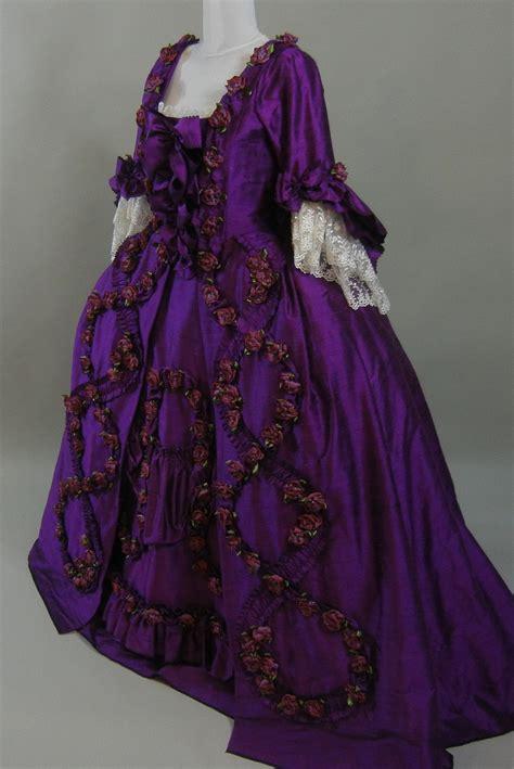 violet roses robe  la francaise starlight masquerade