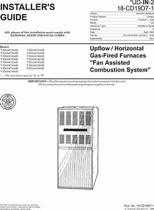Trane Furnace  Heater  Gas Manual L0903221