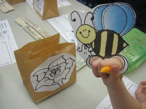 Bee Finger Puppet Template by Warriors Pollination Science Lesson