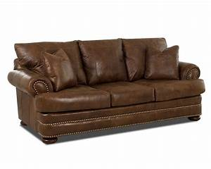 klaussner montezuma leather studio sofa with rolled arms With klaussner leather sectional sofa
