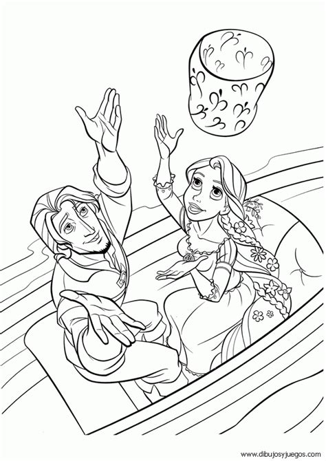 dibujo rapunzel walt disney  dibujos  juegos  pintar  colorear