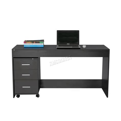 Computer Desk Ebaycouk by Foxhunter Computer Desk Pc Table With 3 Drawers Home