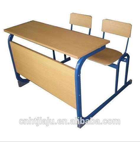 Double Wooden School Desk And Chair/school Desk Bench /two