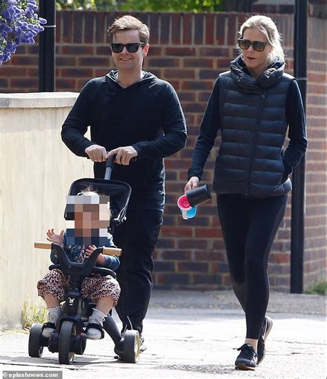 Declan Donnelly enjoys his daily stroll with wife Ali ...