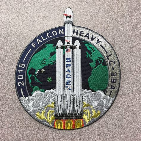 SpaceX Falcon Heavy mission patches - collectSPACE: Messages