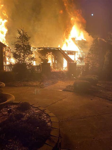 Update Crews Battle Massive House Fire In Hurricane
