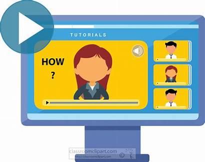 Clipart Education Tutorial Classroom Graphics Clip Computer