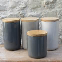 wooden canisters kitchen ceramic storage jar with wooden lid by horsfall wright chalkboards lighting household