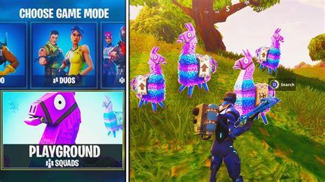 playground mode gameplay  update  fortnite
