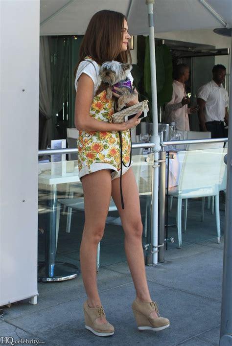 Xenia Deli Walks Her Dog In Short Shorts Celebritybuzzer