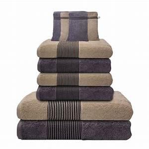 Handtücher Set Grau : 10 tlg handtuch set 2 duscht cher 4 handt cher 4 waschhandschuhe creme grau ebay ~ Indierocktalk.com Haus und Dekorationen