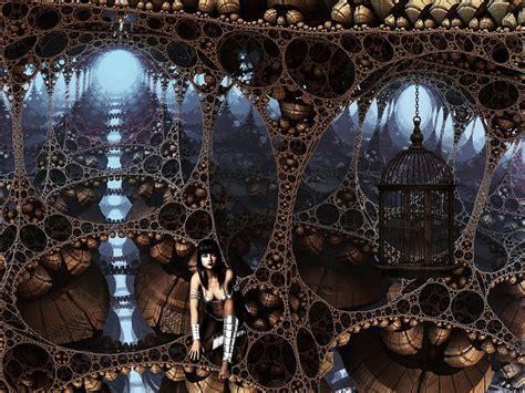 illustration fantasy cage landscape surreal