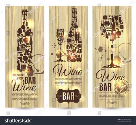 wine bar menu cardbanners set vector stock vector