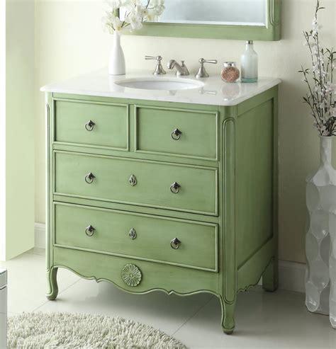 34 inch vanities for bathrooms 34 inch bathroom vanity cottage style vintage green