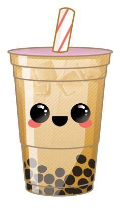Starbucks drink marshmallow coffee cute kawaii cupfreet. Bubble tea emoji! So cute! | Tea illustration, Cute food drawings, Cute kawaii drawings