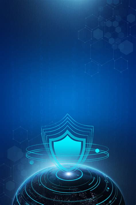 cyber security blue gradient background network security
