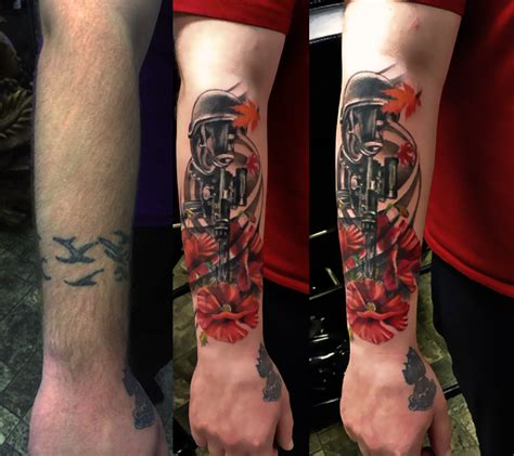 modern forearm tattoo  memorial forearm tattoo