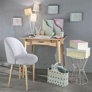 Chaise Vintage Maison Du Monde : silla vintage de tela y abedul macizo gris claro antiguo ~ Melissatoandfro.com Idées de Décoration