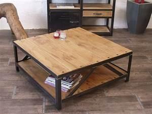 Table Bois Et Fer : trouver table basse fer et bois ~ Premium-room.com Idées de Décoration