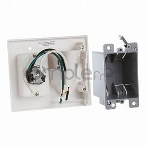 Recessed Tv Power Cord Cable Wire Pass Through White Wall