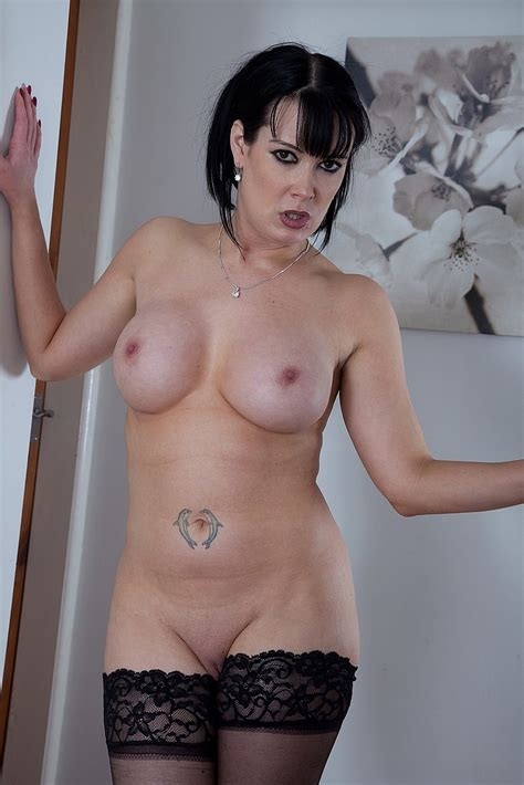 Brunette Milf Tanya Cox Tease And Strip Milf Fox