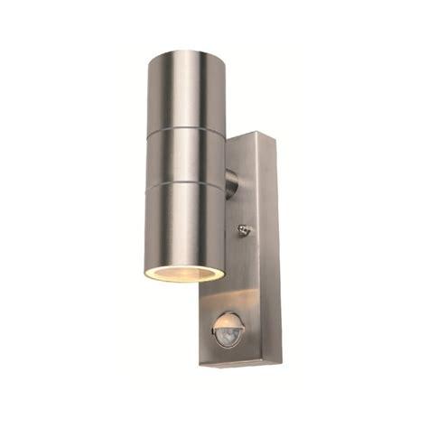 power master s8163 2 light stianless steel pir outdoor