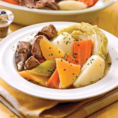 cuisine boeuf bouilli de boeuf aux sept légumes recettes cuisine et