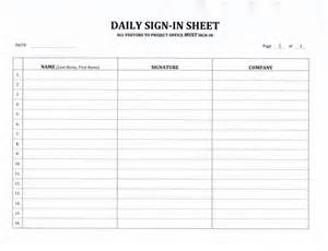 Appointment Sheet Template Word Contractor 39 S Daily Sign In Sheet 7 99 Now