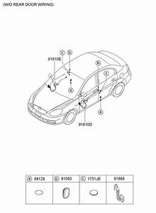 Hyundai Accent Wiring Assembly - Front Door   Driver    Unlockg