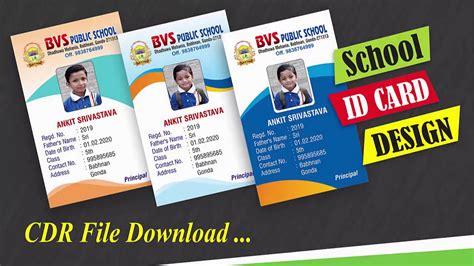 school id card design basic coreldraw  hindi