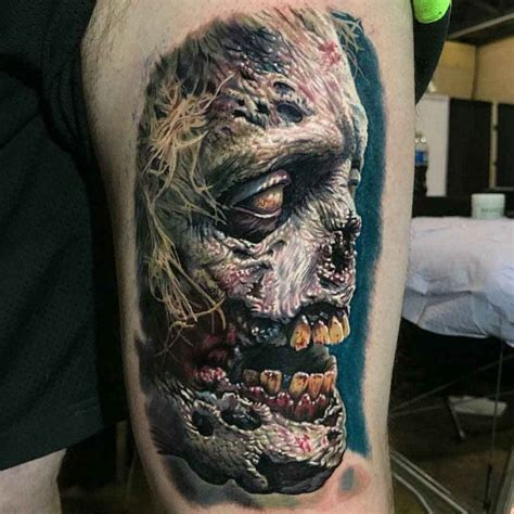 creepy zombie tattoo  tattoo ideas gallery