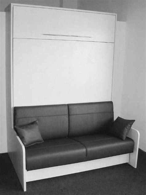 lit canapé escamotable space sofa armoire lit escamotable 160cm canapé intégré
