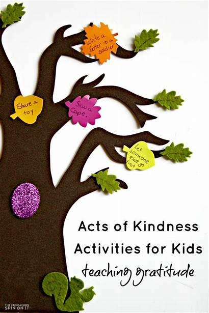 Kindness Activities Crafts Thanksgiving Kind Acts Preschool